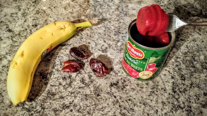 Pre-workout fuel: Beets, banana, and dates