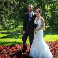 colorful wedding portrait