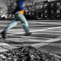 crosswalk running spot color