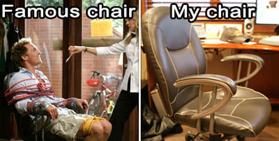 Famous chair from Failure to Launch