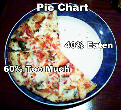 Pie Chart - 40% Eaten, 60% Too much