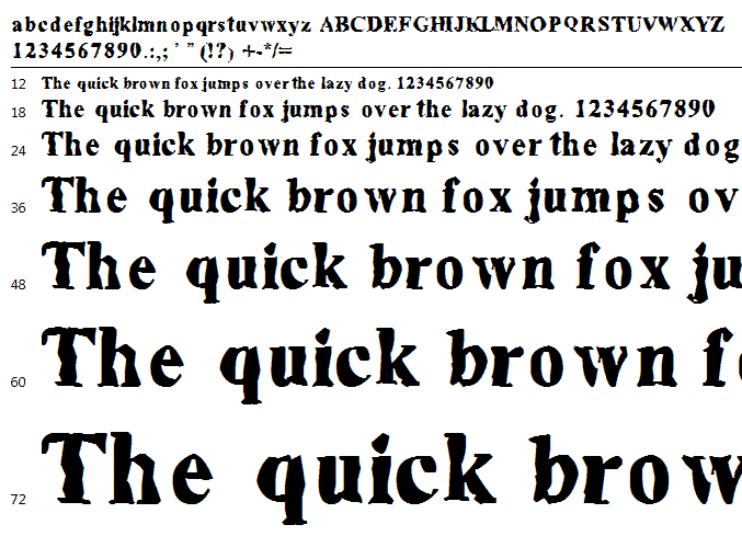 Eroed Font Sample