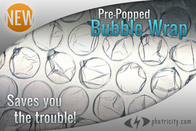 Pre-Popped Bubble Wrap