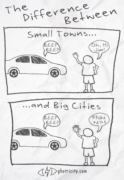 The Difference Between Small Towns and Big Cities