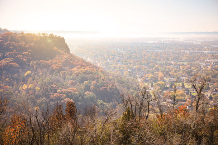 Hazy Bluff View, La Crosse, WI