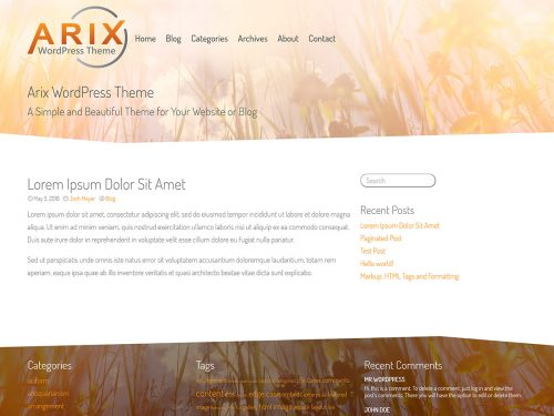 Arix WordPress Theme