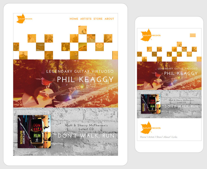Web Design for Autumn Records