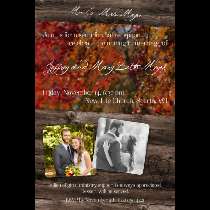 fall invitation