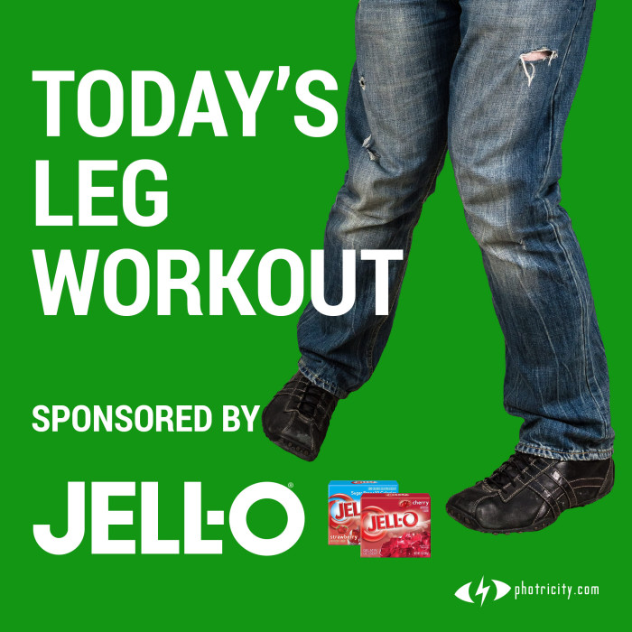 Today's Let Workout sponsored by Jell-O