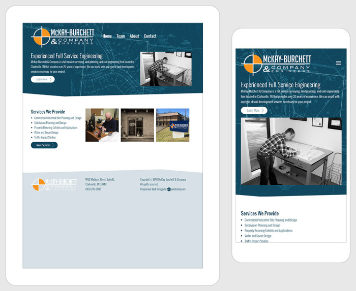 Web Design for McKay-Burchett & Co Engineers
