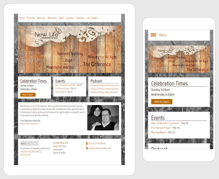 Web Design for New Life Church