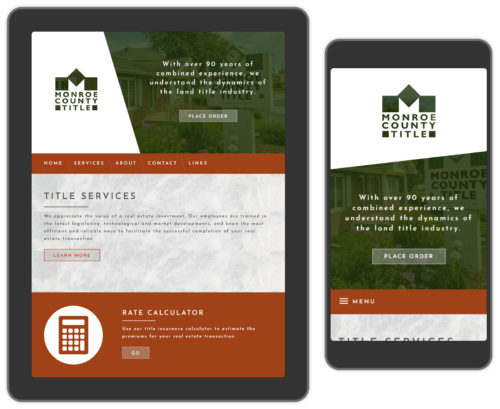 Real estate web design example
