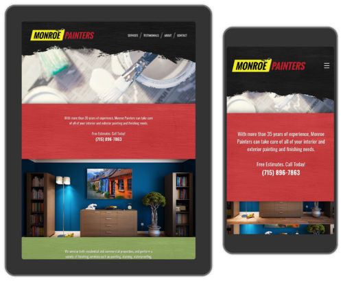 Painting services web design