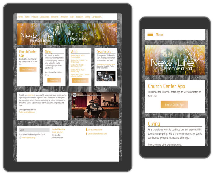 Church web design
