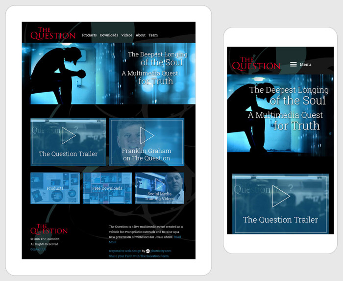 The Question Musical - Responsive Layout