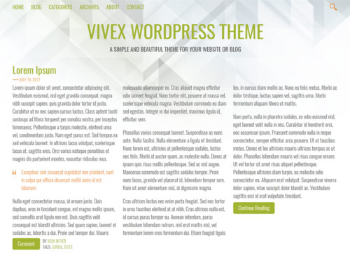 Vivex WordPress Theme